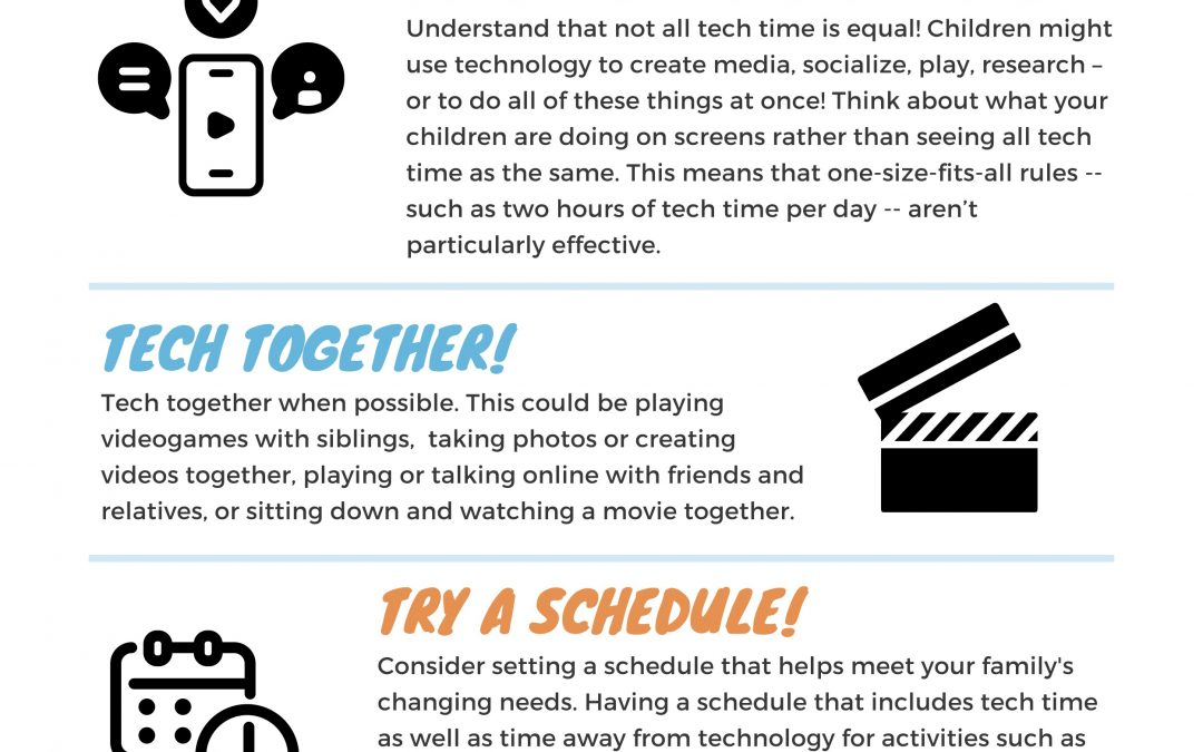 New Infographic with Tech Guidance for Families During COVID 19